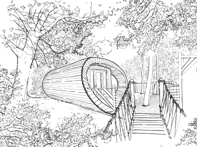 Tree House Design Sketches (5)