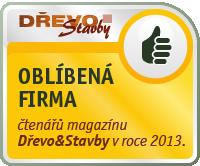 Oblíbená firma čtenářů magazínu Dřevo&Stavby v roce 2013